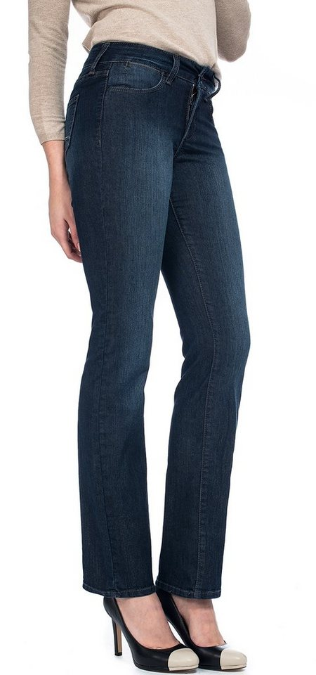 NYDJ Marilyn straight jeans »aus premium denim« in Burbank wash