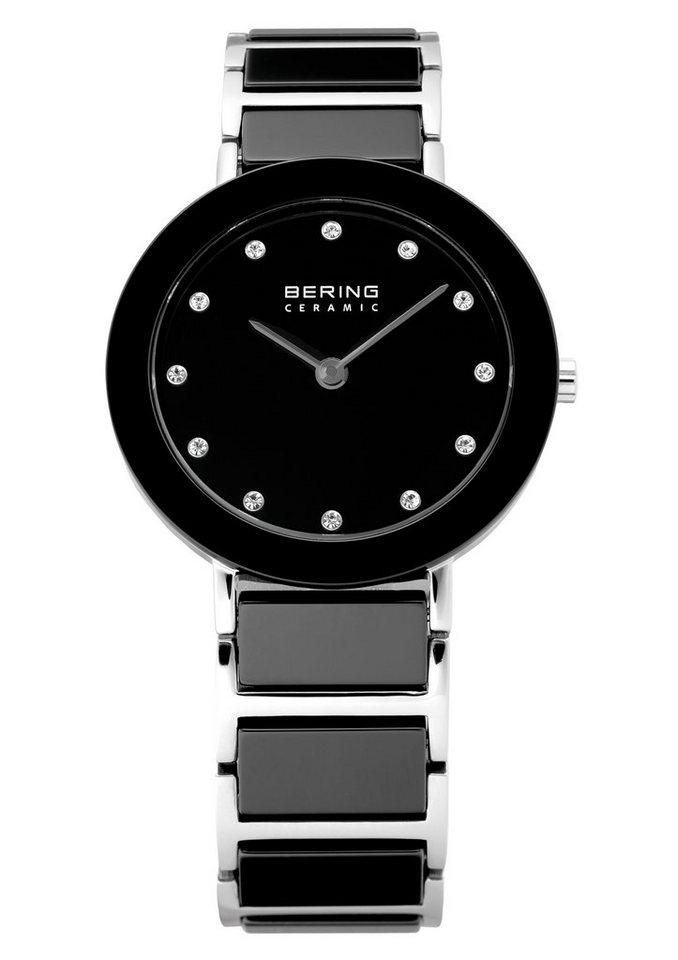 Bering Quarzuhr »11429-742« mit Keramiklünette in schwarz-silberfarben