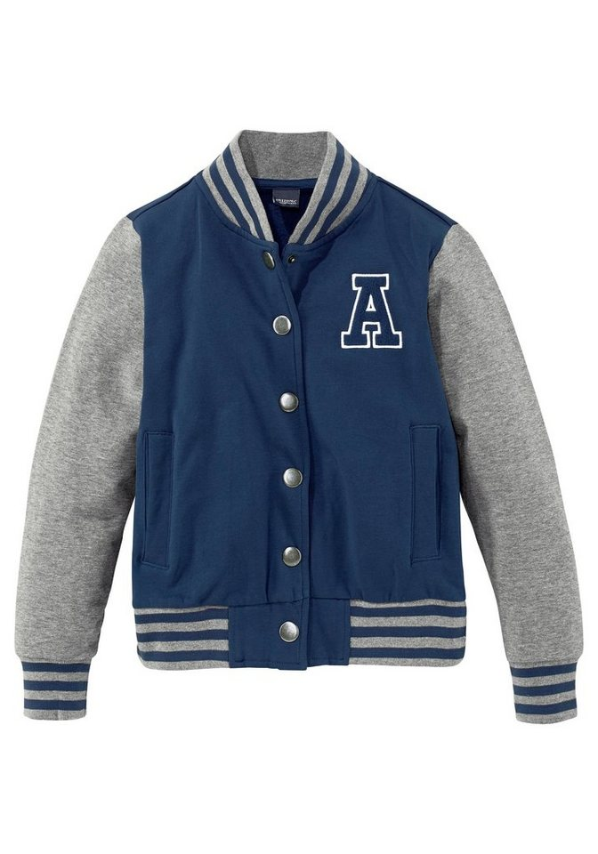 Arizona Sweatjacke in Collegeform in marine