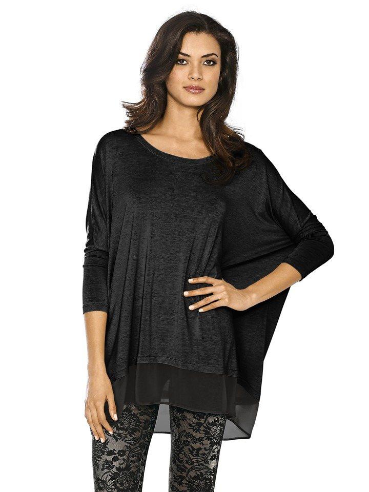 Heine Oversized-Shirt in schwarz