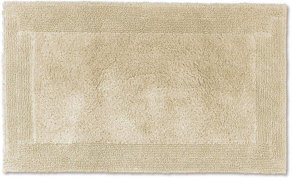 Badematte, Möve, »Loft«, Höhe 22 mm, Baumwolle, beidseitig verwendbar in papyrus