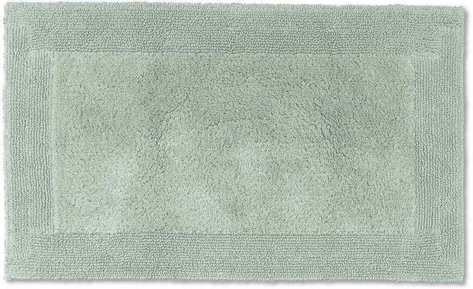 Badematte, Möve, »Loft«, Höhe 22 mm, Baumwolle, beidseitig verwendbar in celadon