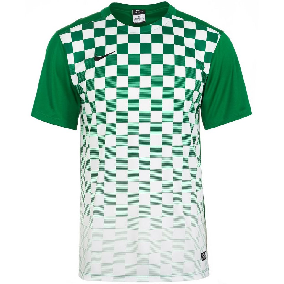 NIKE Precision III Fußballtrikot Herren in grün / weiß