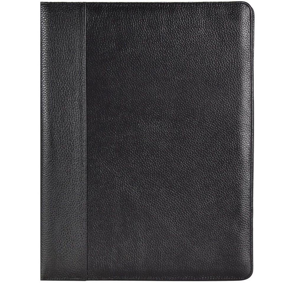 Dermata Schreibmappe Leder 32 cm in schwarz