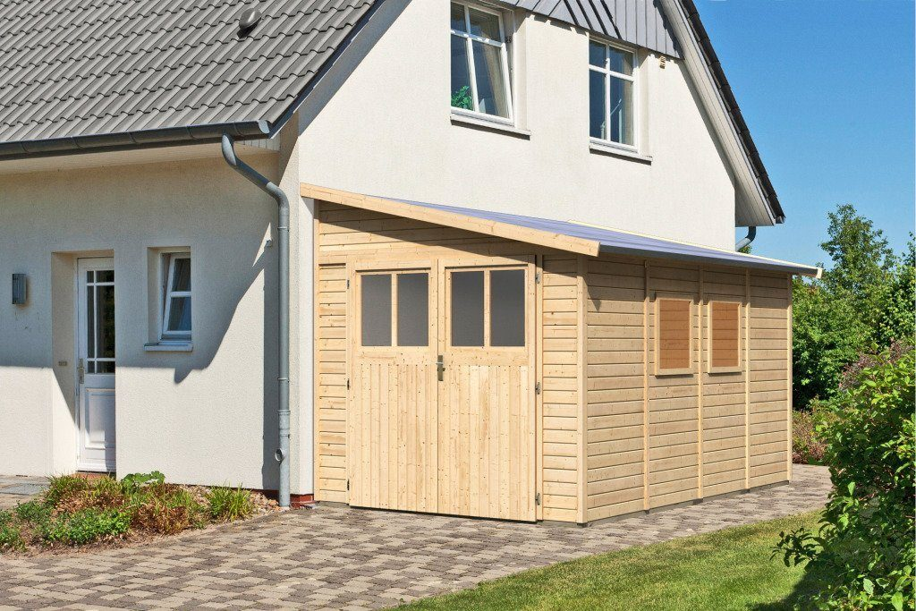 KARIBU Gartenhaus »Bomlitz 4«, BxT: 238x355 cm