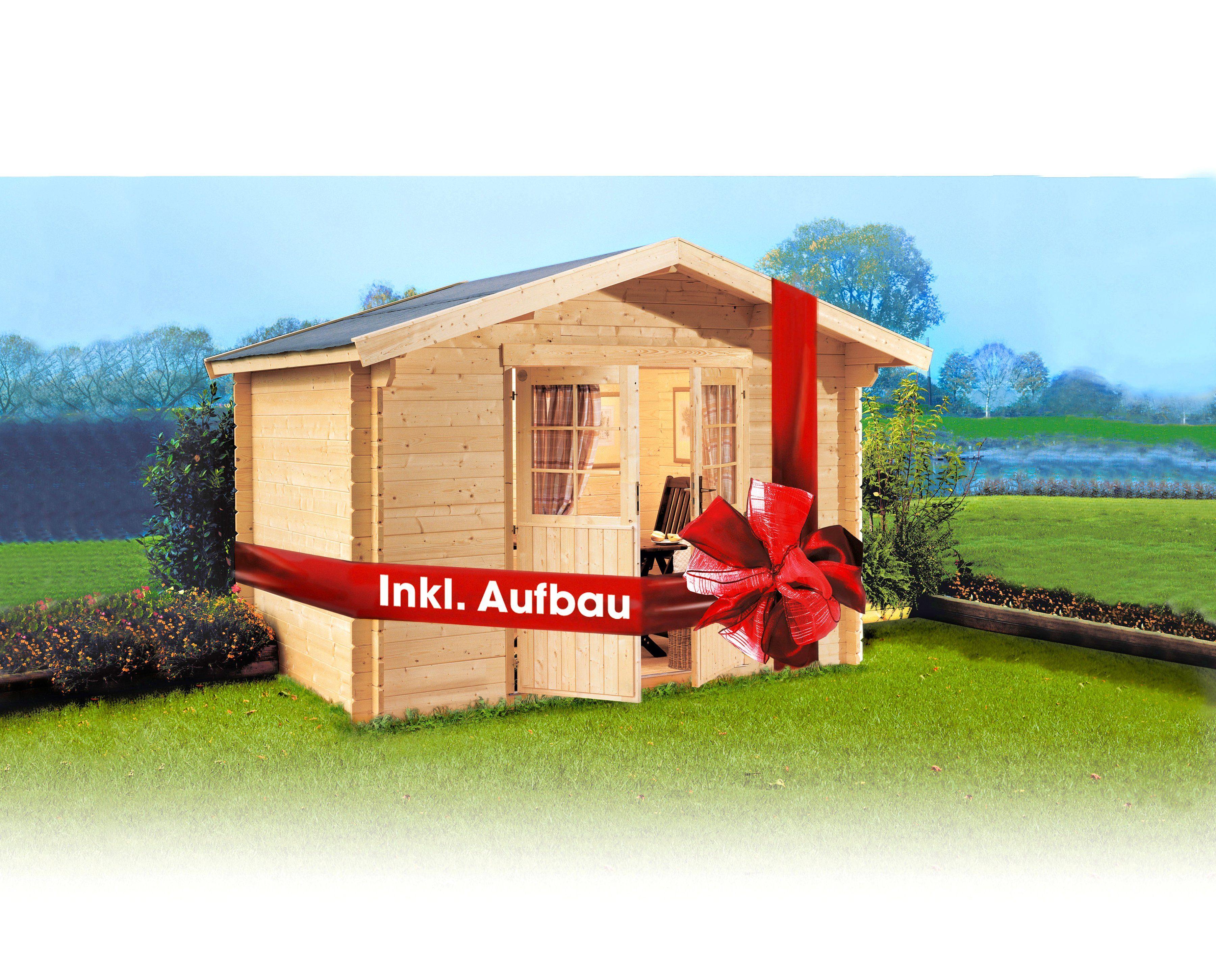 gartenhaus komplett mit aufbau bz64 hitoiro. Black Bedroom Furniture Sets. Home Design Ideas
