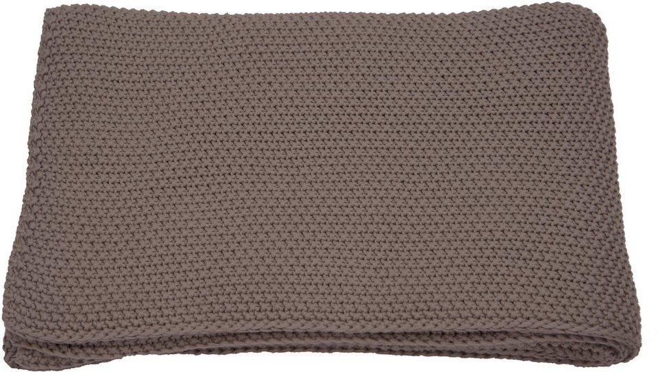 wohndecke tom tailor chunky stitch in strickoptik. Black Bedroom Furniture Sets. Home Design Ideas