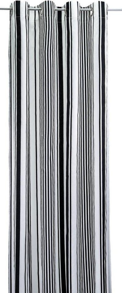 Vorhang, Tom Tailor, »Graphic Stripes« (1 Stück) in schwarz/weiß
