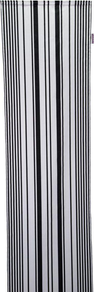Schiebegardine, Tom Tailor, »Graphic Stripes«, mit Klettband (1 Stück ohne Zubehör) in schwarz/weiß