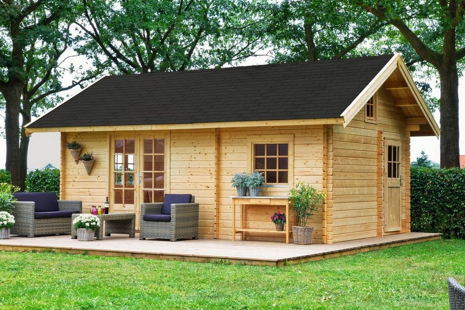 Gartenhaus »Colorado 40 mm ohne Schlafboden«, BxT: 585x390 cm in natur