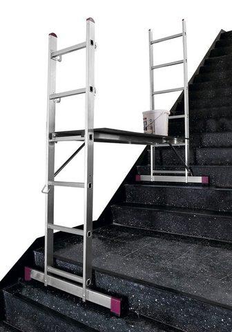 KRAUSE Kopėčios »CORDA« 3 in 1 2x6 Sprossen