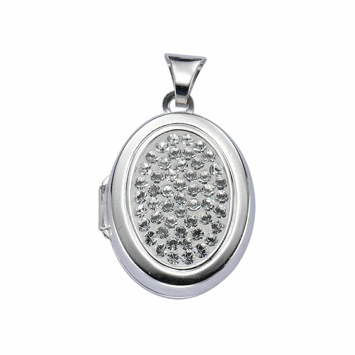 Crystelle Anhänger »Medaillon 925/- Sterling Silber Swarovski«