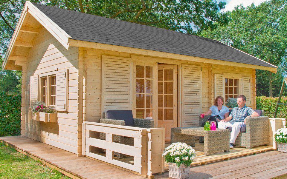 OUTDOOR LIFE PRODUCTS Gartenhaus »Colorado «, BxT: 585x390 cm, 40 mm, inkl. Schlafboden