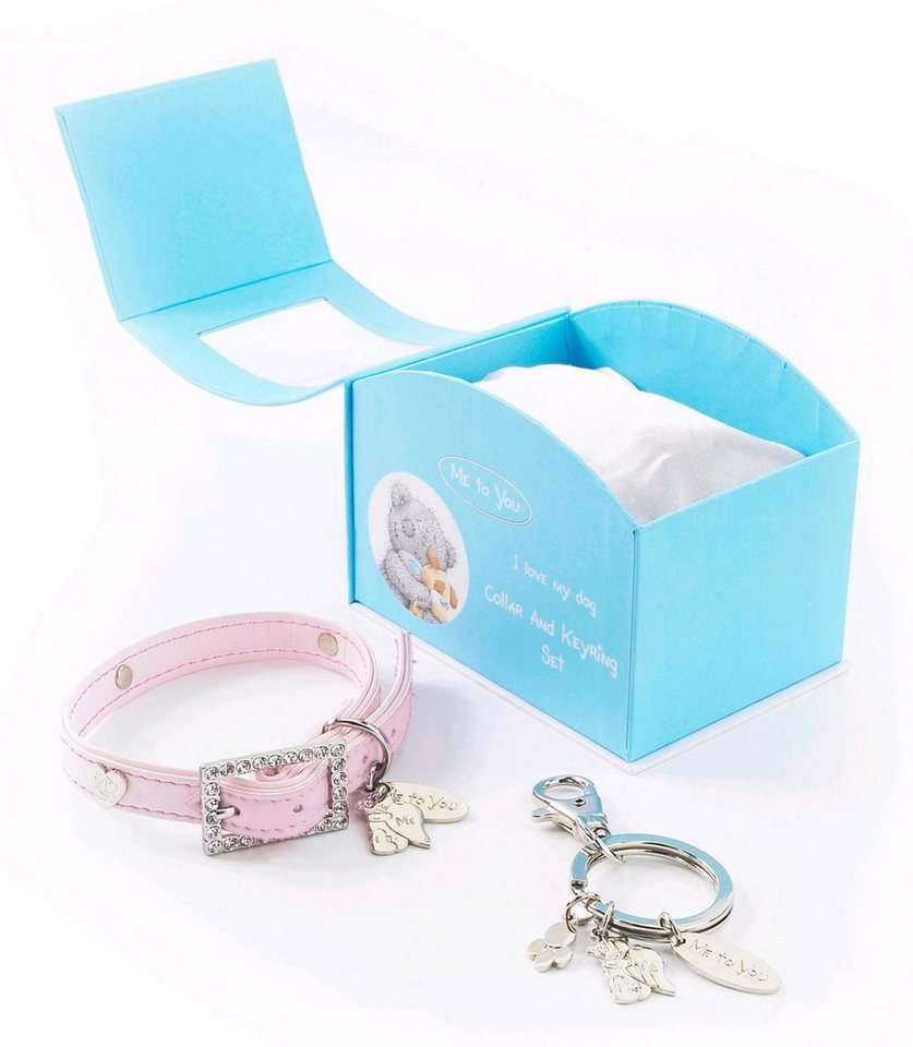 Hundehalsband »Me to You« Geschenke-Set in rosa