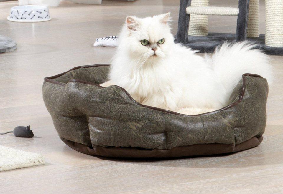 Hundebett und Katzenbett »Kuschelbett« in braun