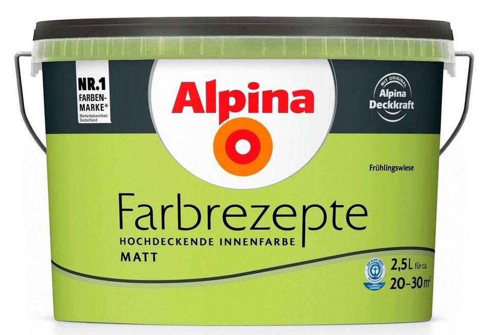 Wand- und Deckenfarbe »Farbrezepte«, Frühlingswiese in grün