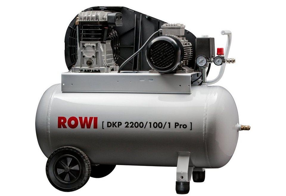 Rowi Kompressor »2200/100/1« in weiß