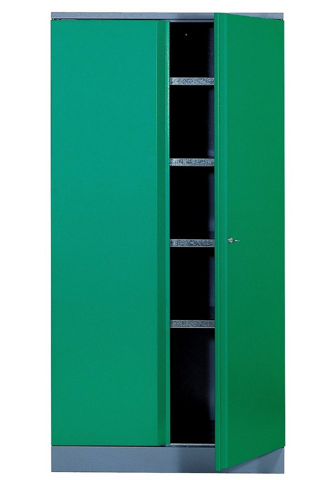 Küpper Hochschrank »2 Türen, 4 Einlegeböden, in grün« in grün