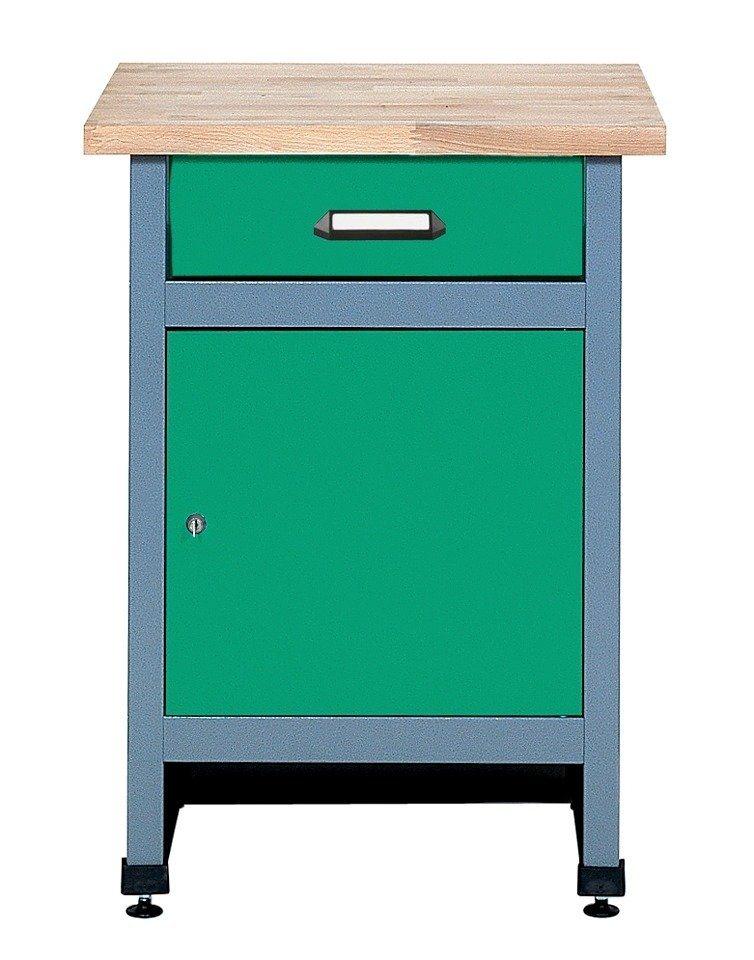 Küpper Beistelltisch »1 Tür, 1 Schublade«, in grün, verschiedene Höhen in grün