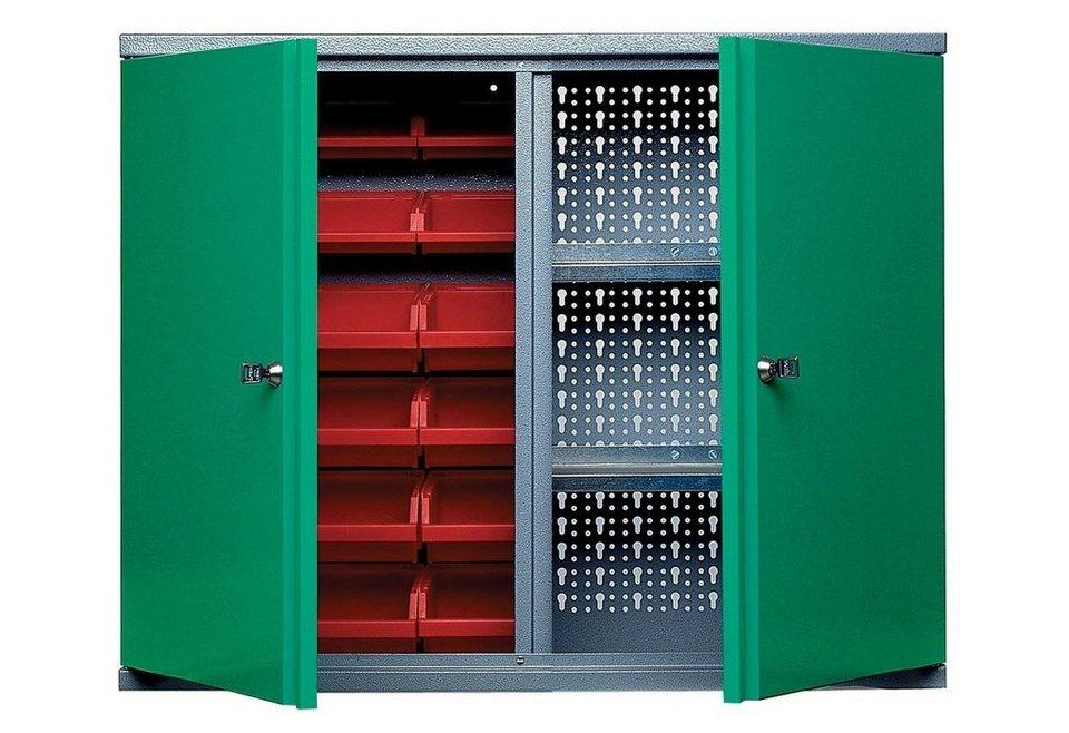 Küpper Hängeschrank »2 Türen, 2 Einlegeböden, 18 Sichtboxen, in grün« in grün