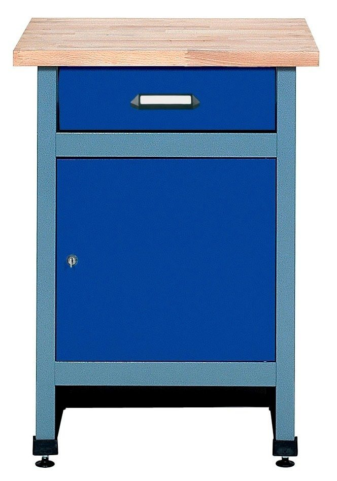 Beistelltisch »1 Tür, 1 Schublade, ultramarinblau, in verschiedenen Höhen« in blau