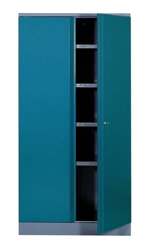 hochschrank 2 t ren 4 einlegeb den in hammerschlagblau online kaufen otto. Black Bedroom Furniture Sets. Home Design Ideas