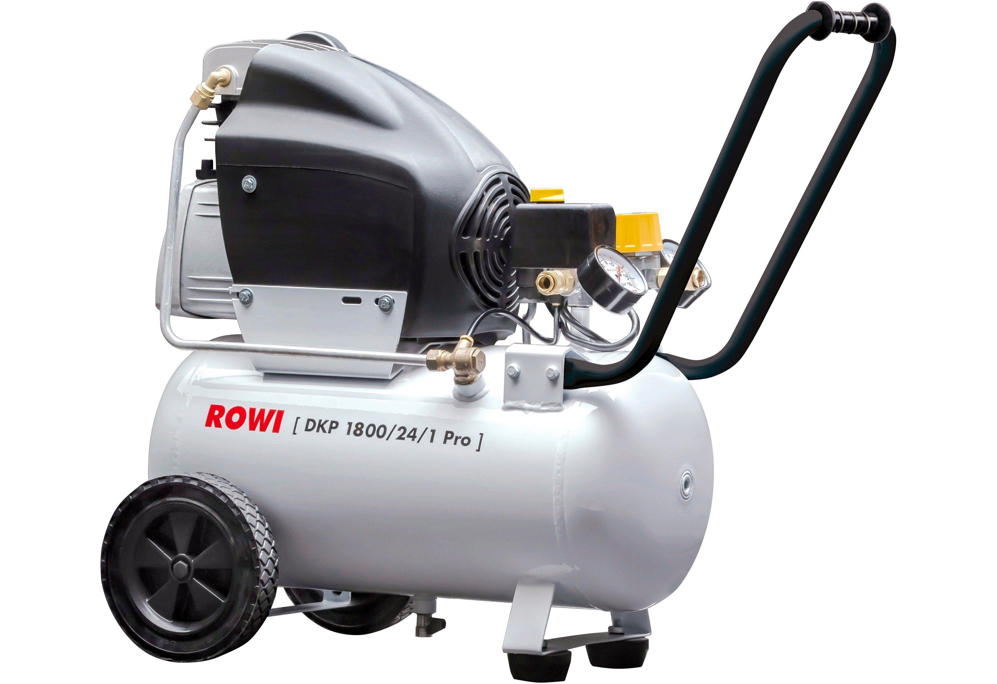 Rowi Kompressor Set »DKP 1800/24/1 Pro« inkl. 11-tlg. Druckluft-Zubehör