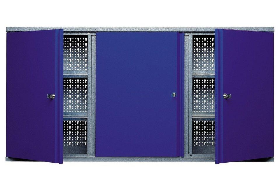 Küpper Hängeschrank »3 Türen, 4 Einlegeböden, in ultramarinblau« in blau