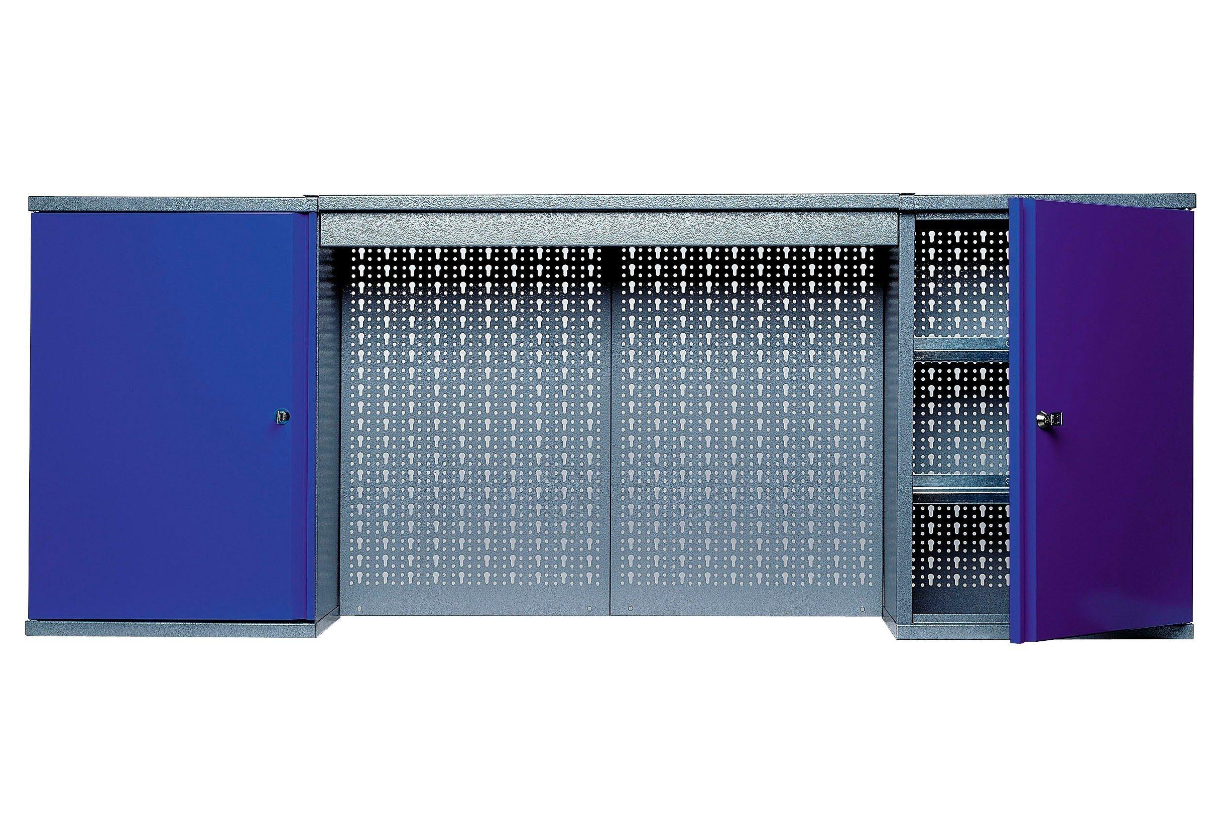 Küpper Hängeschrank »mit Lichtblende, 2 Türen, 4 Einlegeböden, in ultramarinblau«