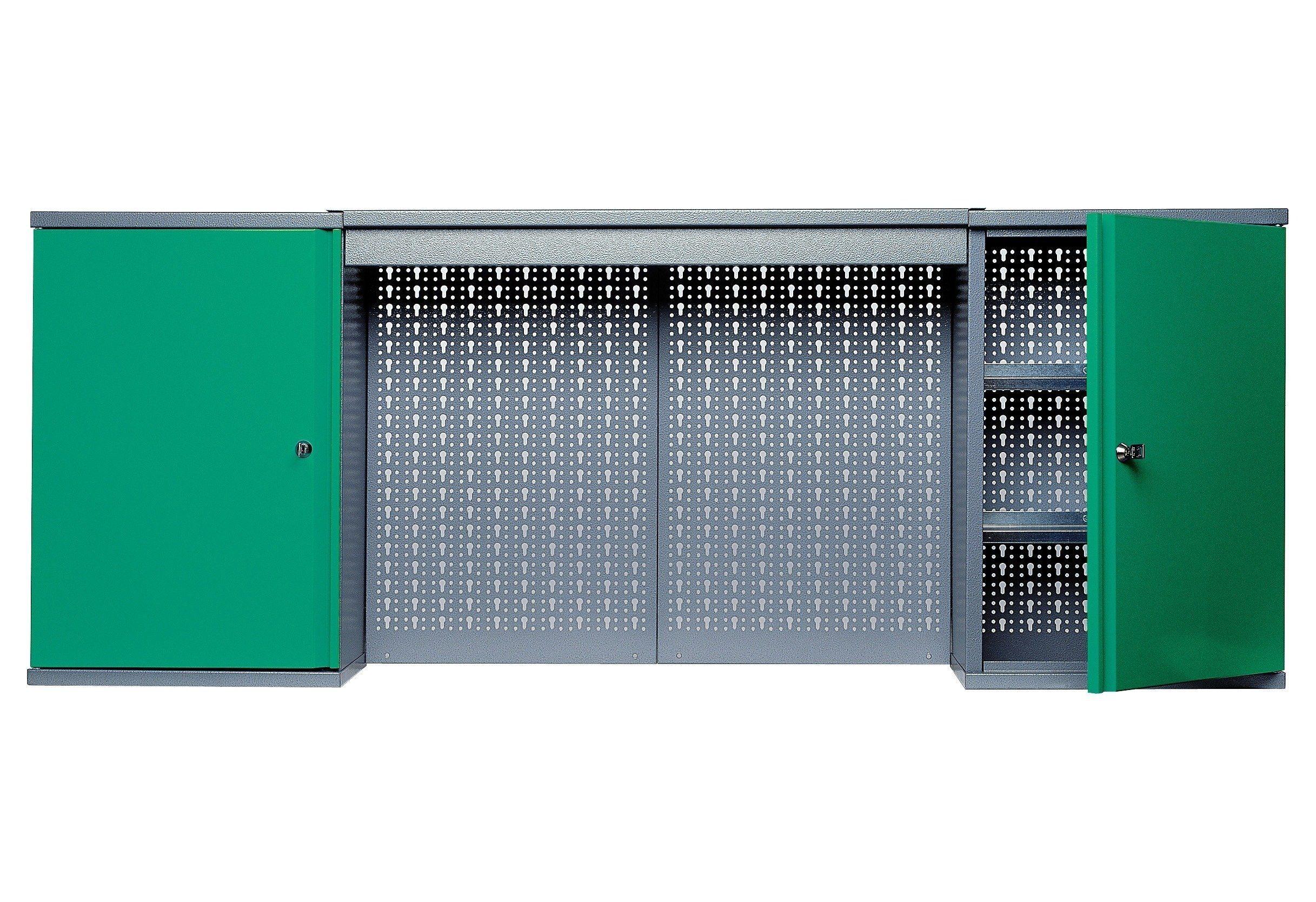 Küpper Hängeschrank »mit Lichtblende, 2 Türen, 4 Einlegeböden, in grün«