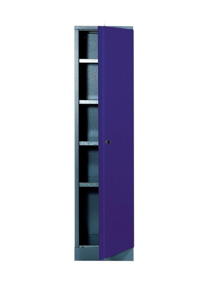 Hochschrank »1 Tür, 4 Einlegeböden, in ultramarinblau« in blau
