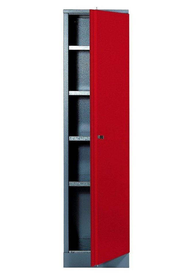 Hochschrank »1 Tür, 4 Einlegeböden, in rot« in rot
