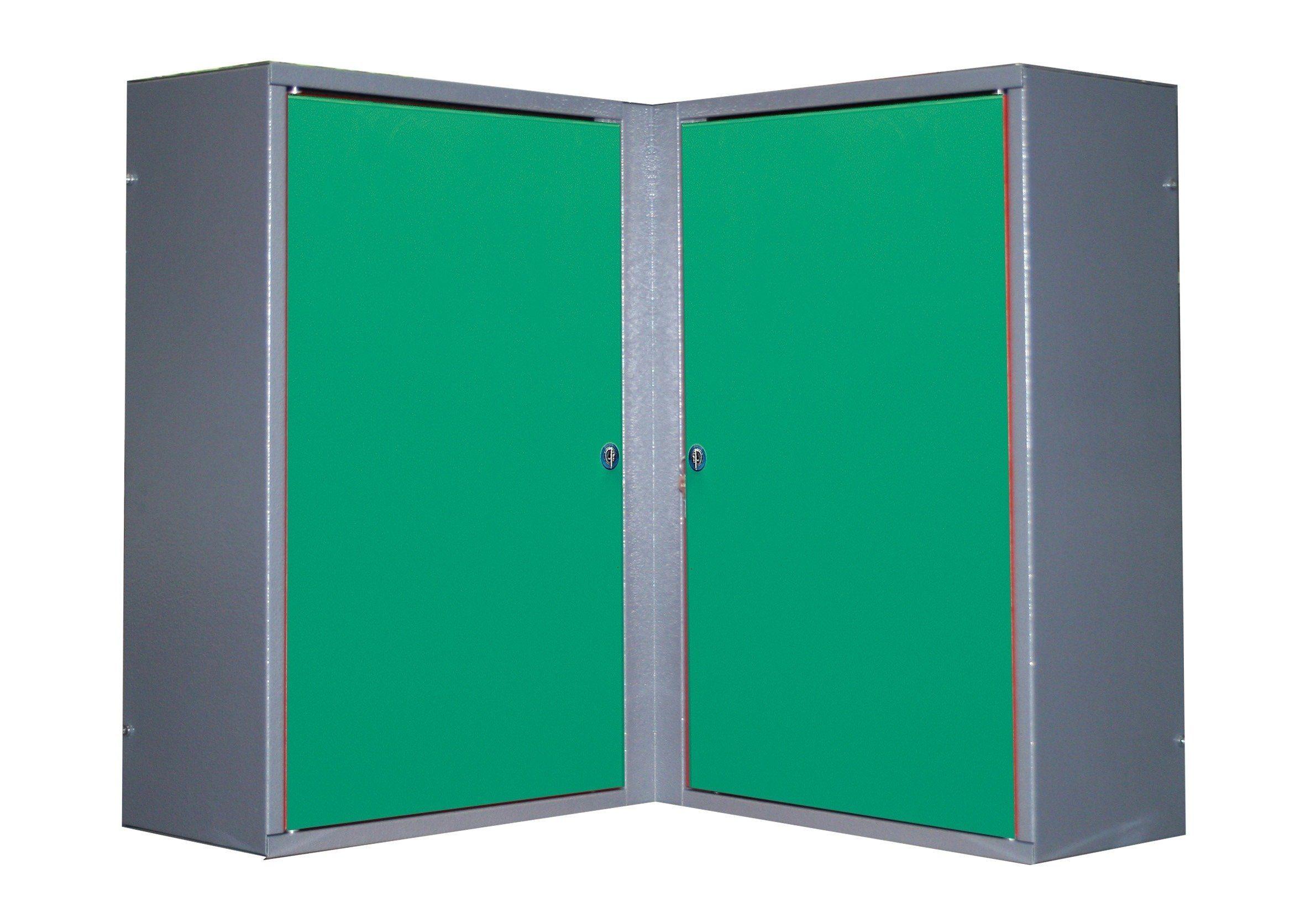 Küpper Eck-Hängeschrank »2 Türen, 4 Einlegeböden, in grün«