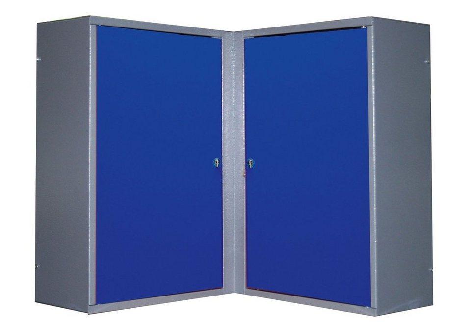 Eck-Hängeschrank »2 Türen, 4 Einlegeböden, in ultramarinblau« in blau