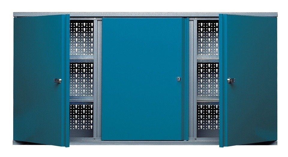 Küpper Hängeschrank »3 Türen, 5 Einlegeböden, in hammerschlagblau«