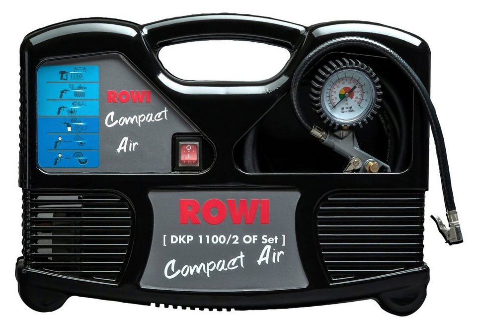 Rowi Set: Kompressor »DKP 1100/2 OF« in schwarz