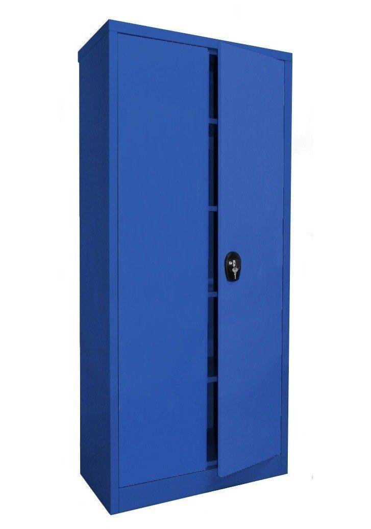 Sz Metall Stahlschrank 180 x 80, blau
