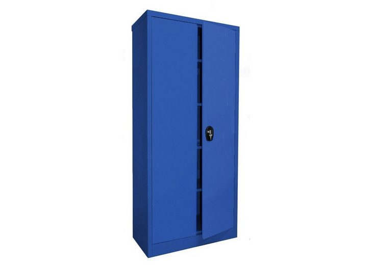 Stahlschrank 180 x 80, blau