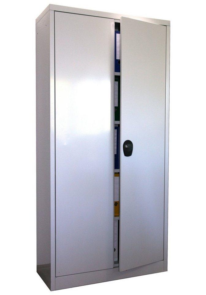 Stahlschrank 180 x 80, grau in grau