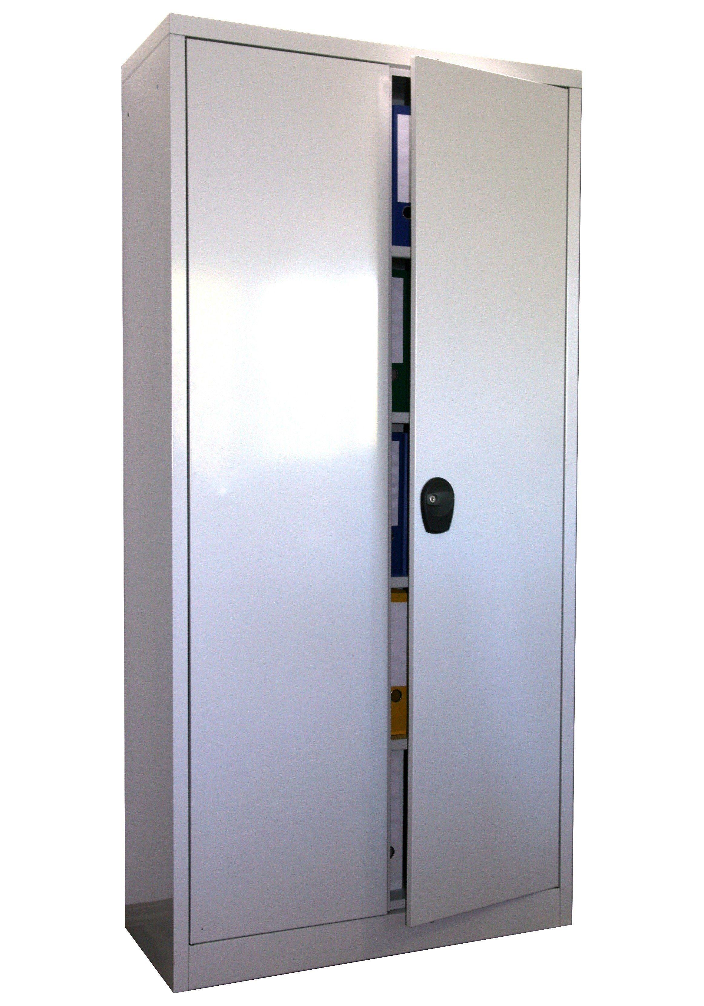 Sz Metall Stahlschrank 180 x 80, grau