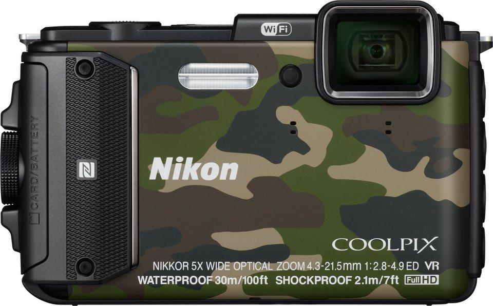 NIKON COOLPIX AW130 Outdoor Kamera, 16 Megapixel, 5x opt. Zoom, 7,5 cm (3 Zoll) Display