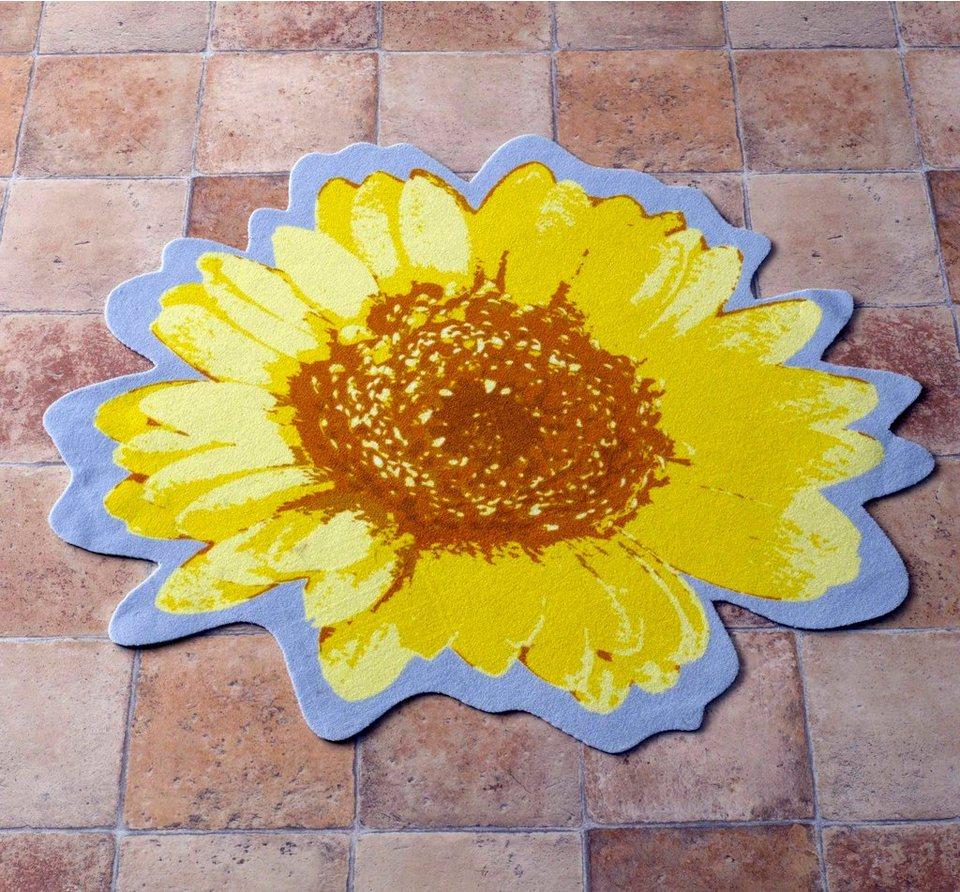Teppich, Zala Living, »Flower Kontur« in Gelb