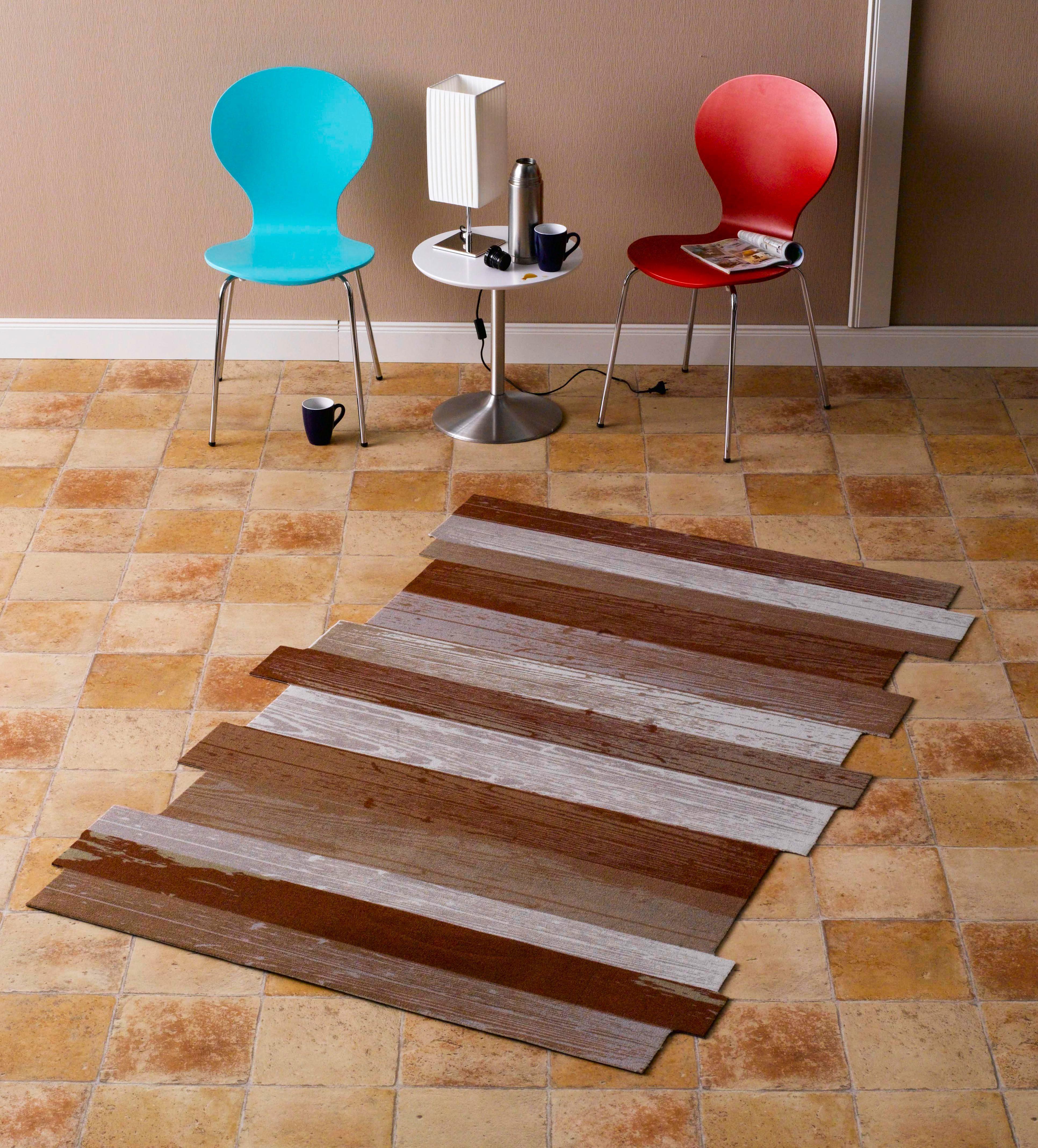 Teppich, Zala Living, »Holzplanke Wood Plank Kontur«