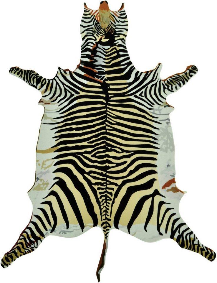 Teppich, Zala Living, »Zebra« Konturschnitt in FellOptik