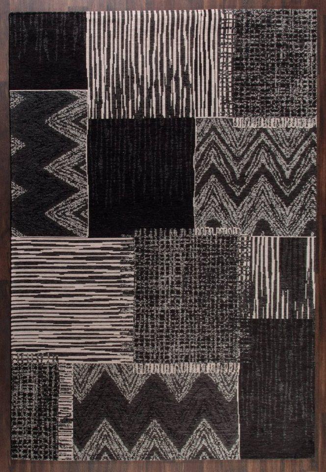 Design-Teppich, Schöngeist & Petersen, »Retro Creative«, Grau, hochwertig, modern in Grau Schwarz