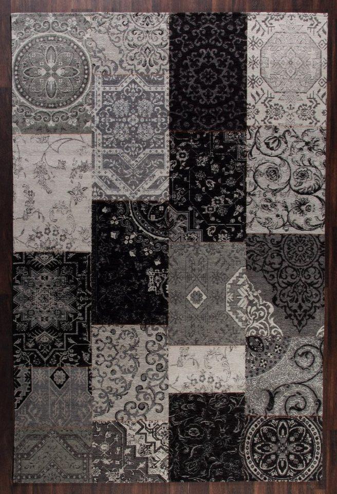 Design-Teppich, Schöngeist & Petersen, »Retro Creative I«, hochwertig, modern in Schwarz Grau