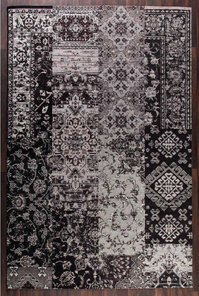 Design-Teppich, Schöngeist & Petersen, »Retro Creative II«, hochwertig, modern in Schwarz Grau
