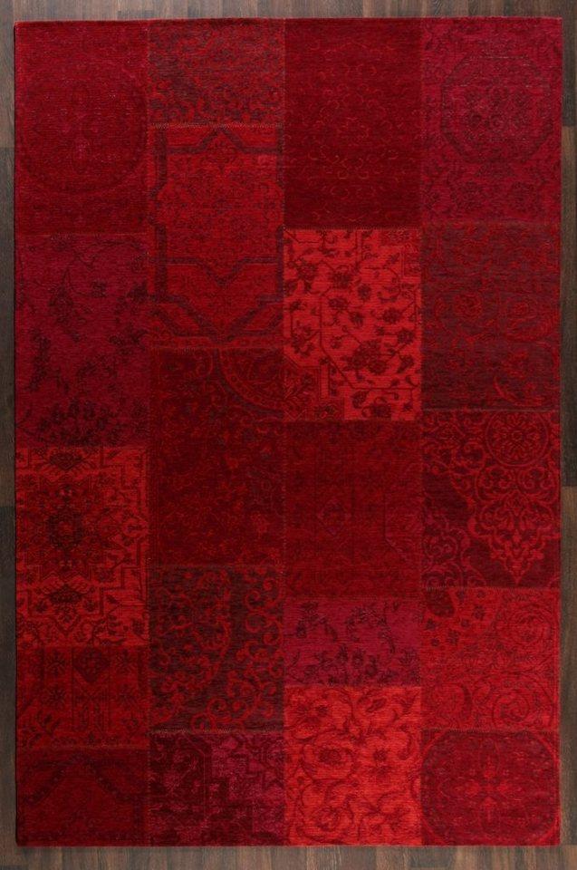 Design-Teppich, Schöngeist & Petersen, »Retro Creative I«, hochwertig, modern in Rot