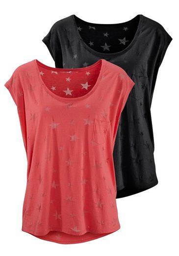 Beachtime T-Shirts (2 Stück) mit transparenten Sternen