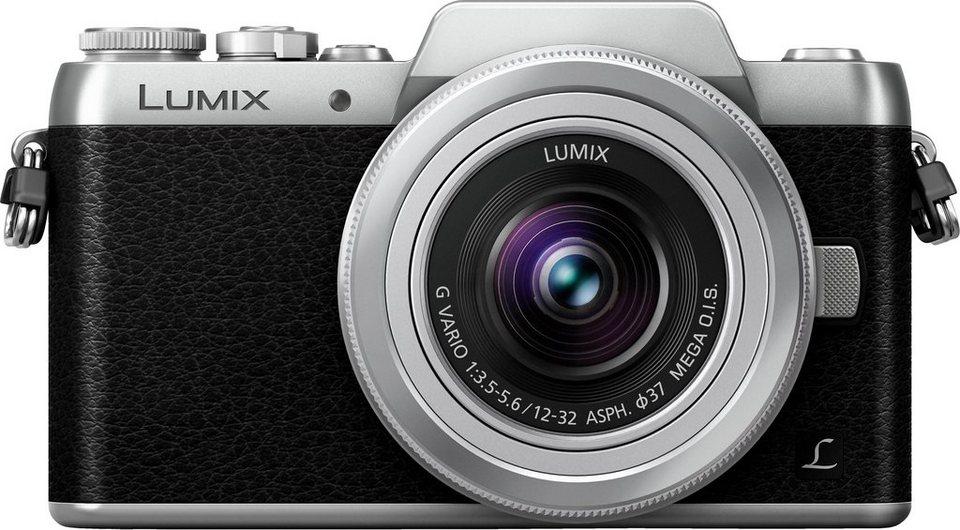 Lumix Panasonic DMC-GF7 System Kamera, Weitwinkel-Zoom Objektiv Weitwinkel, 16 Megapixel in silberfarben